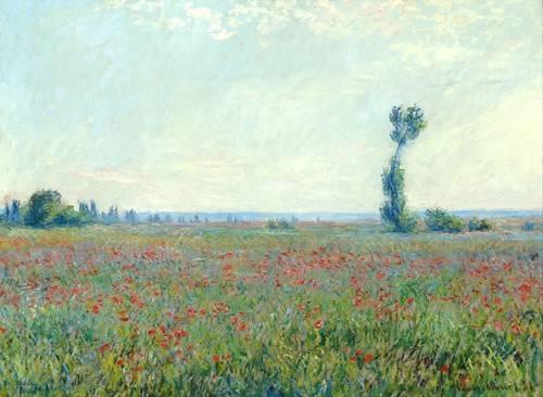 landschaften-gemaelde - Le Champ de coquelicots près de Giverny - Monet, Claude