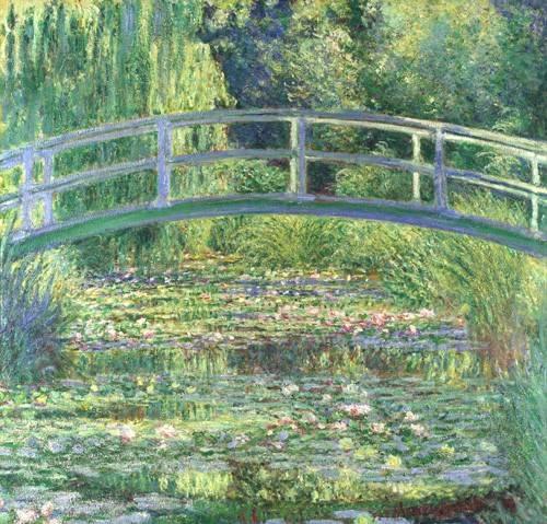 landschaften-gemaelde - Der Seerosenteich - Harmonie in Grün, 1899 (Waterlily Pond) - Monet, Claude