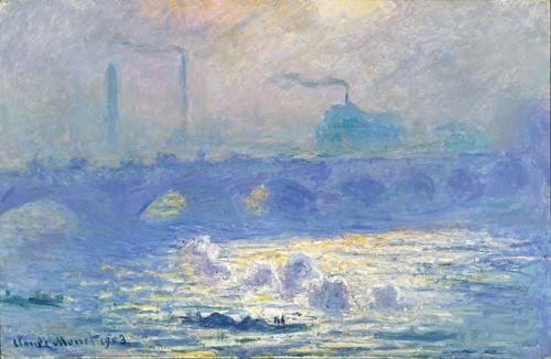 landschaften-gemaelde - Pont de Waterloo, effet de la brume, 1903 - Monet, Claude