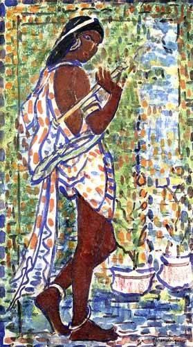 flur-treppenhause - Danseuse hindoue - Prendergast, Maurice