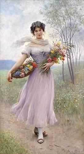 portraetgemaelde - Spring Flowers - Blaas, Eugen Von