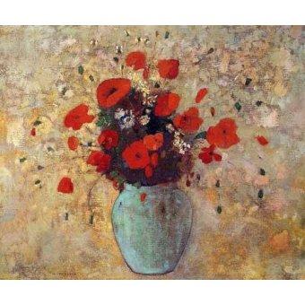 Blumen und Pflanzen - Vase aux coquelicots - Redon, Odilon