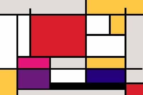 abstrakte-gemaelde - Abstrait MM_MONDRIAN (I) - Vicente, E. Ricardo