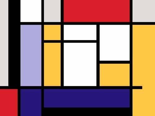abstrakte-gemaelde - Abstrait MM_MONDRIAN (II) - Vicente, E. Ricardo