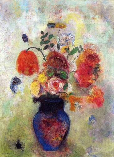 bilder-fuer-ein-esszimmer - Bouquet de flores 2 - Redon, Odilon