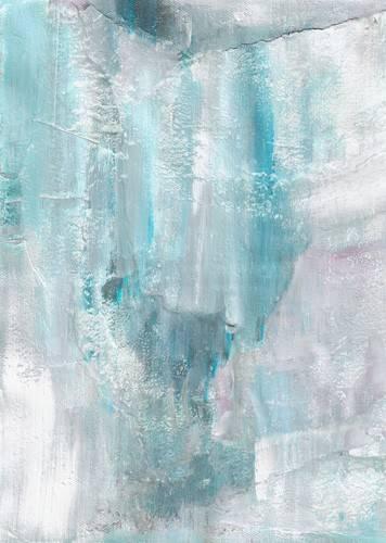 abstrakte-gemaelde - Abstrakt. Gefrorene Wand (IV) - Molsan, E.
