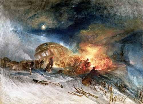 landschaften-gemaelde - Travellers in a Snowdrift - Turner, Joseph M. William