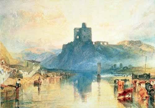 landschaften-gemaelde - Norham Castle, 1824 - Turner, Joseph M. William