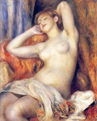 kuenstlerische-aktbilder - La dormeuse - Renoir, Pierre Auguste