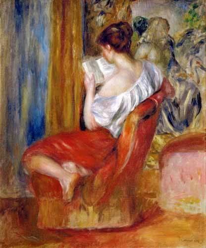 portraetgemaelde - Femme lisant - Renoir, Pierre Auguste