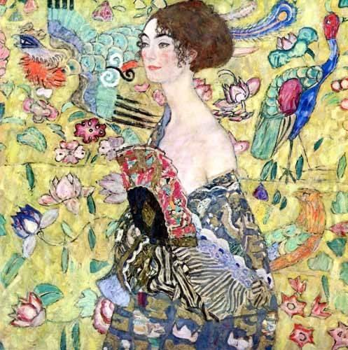 portraetgemaelde - Dame mit Fächer, 1917-1918 - Klimt, Gustav