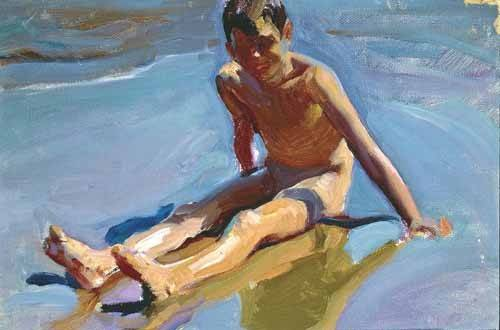 portraetgemaelde - Enfant sur la plage - Sorolla, Joaquin