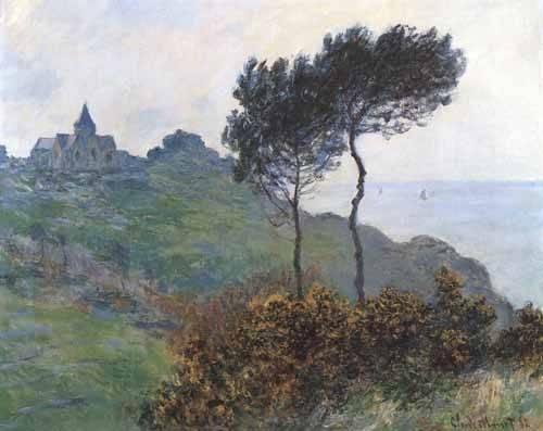 landschaften-gemaelde - L'église de Varengeville - Monet, Claude