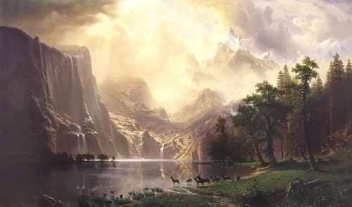landschaften-gemaelde - Sierra-Nevada - Bierstadt, Albert