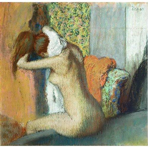 Après le bain, femme nue s'essuyant la nuque, 1898