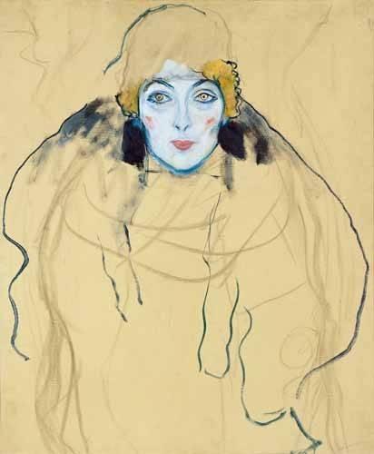 portraetgemaelde - Kopf einer Frau, 1917 - Klimt, Gustav