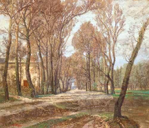 landschaften-gemaelde - Prater 1907 - Blau-Lang, Tina