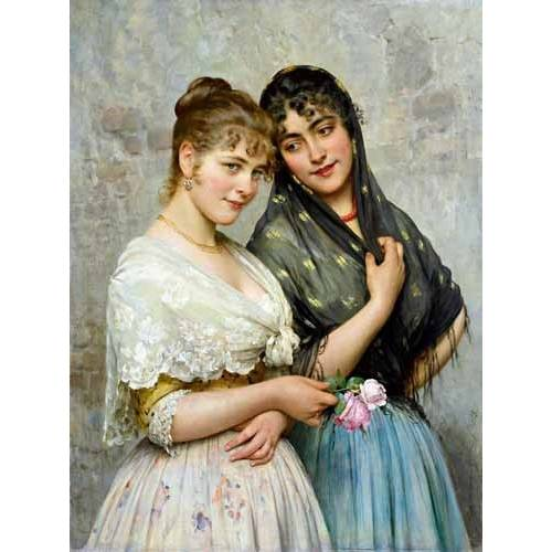 pinturas do retrato - Quadro -Mujeres venecianas-