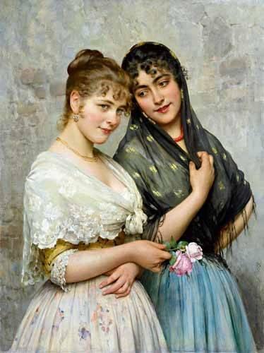 portraetgemaelde - Mujeres venecianas - Blaas, Eugen Von