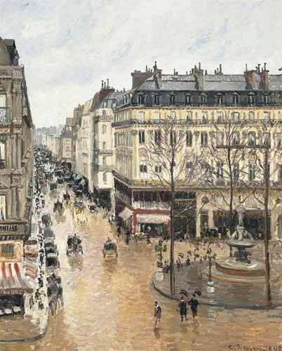 landschaften-gemaelde - Rue Saint-Honoré am Nachmittag bei Regen (1897) - Pissarro, Camille