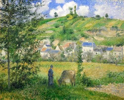landschaften-gemaelde - Paysage à Chaponval, 1880 - Pissarro, Camille