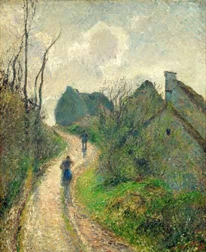 landschaften-gemaelde - Chemin montant à Osny - Pissarro, Camille