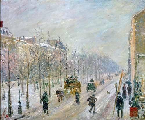 landschaften-gemaelde - Les Boulevards exterieurs,effet de neige, 1879 - Pissarro, Camille