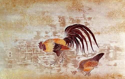 bilder-fuer-ein-esszimmer - Gallo y gallina - _Anonym China