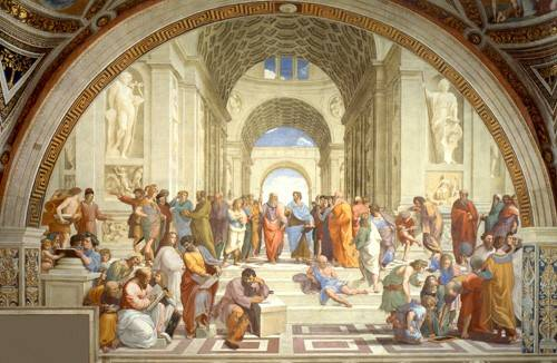 portraetgemaelde - L'École d'Athènes - Raphaël, Sanzio da Urbino Raffael