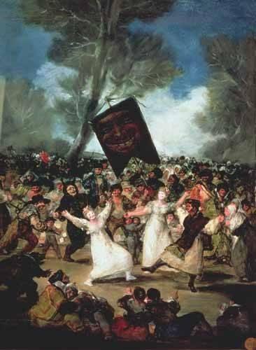 portraetgemaelde - El entierro de la sardina, c-1812-19 - Goya y Lucientes, Francisco de
