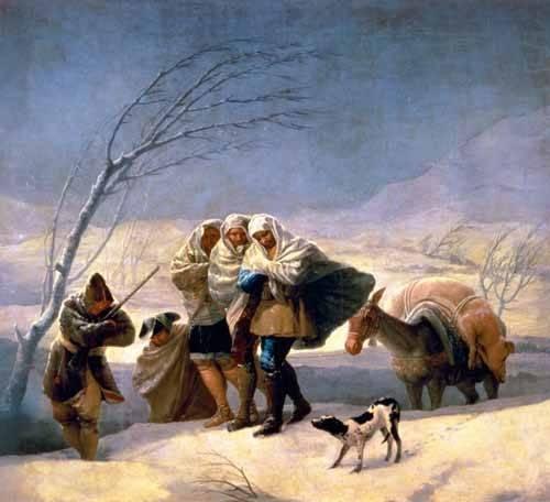 portraetgemaelde - El invierno, 1786-87 - Goya y Lucientes, Francisco de