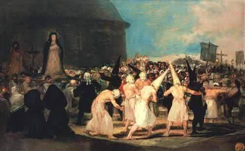 portraetgemaelde - Procesion de flagelantes, 1815-19 - Goya y Lucientes, Francisco de