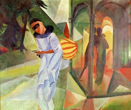 portraetgemaelde - Pierrot, 1913 - Macke, August