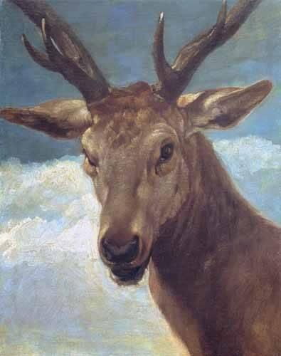 tiermalereien - Tête de cerf - Velazquez, Diego de Silva