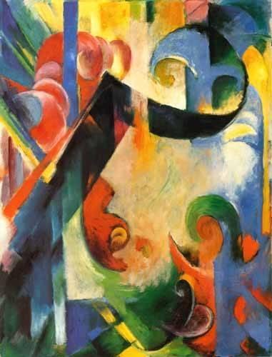abstrakte-gemaelde - Zerbrochene Formen - Marc, Franz