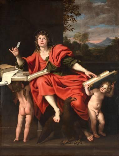 religioese-gemaelde - San Juan Evangelista - Zampieri, Domenichino
