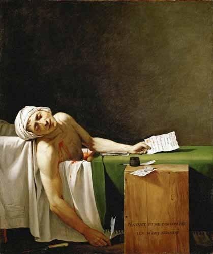 portraetgemaelde - Jean Paul Marat, dead in his bathtub (Muerte de Marat) - David, Jacques Louis