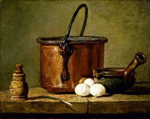 bilder-fuer-ein-esszimmer - Ustensiles de cuisine - Chardin, Jean Bapt. Simeon