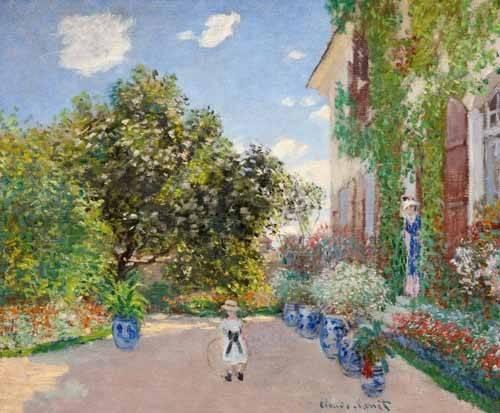 landschaften-gemaelde - La Maison de l'artiste à Argenteuil, 1873 - Monet, Claude
