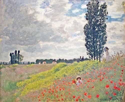 landschaften-gemaelde - Promenade dans les prés à Argenteuil, 1873 - Monet, Claude