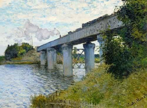 landschaften-gemaelde - Le Pont du chemin de fer à Argenteuil, 1874 - Monet, Claude