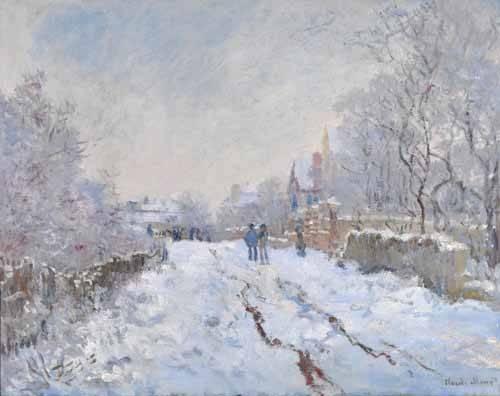 landschaften-gemaelde - Scène de neige à Argenteuil, 1875 - Monet, Claude
