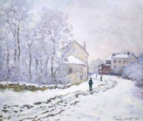 landschaften-gemaelde - Neige à Argenteuil, 1875 - Monet, Claude