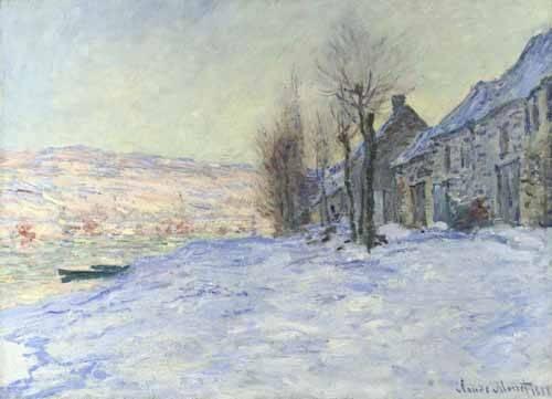 landschaften-gemaelde - Lavacourt sous la neige, 1879 - Monet, Claude