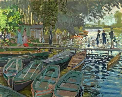landschaften-gemaelde - Baigneurs à la Grenouillère, 1869 - Monet, Claude