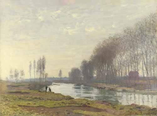 landschaften-gemaelde - Le petit bras de la Seine a Argenteuil, 1872 - Monet, Claude