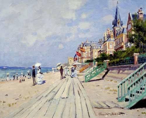 seelandschaft - Am Strand von Trouville, 1870 - Monet, Claude