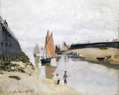seelandschaft - L'entrée du port de Trouville, 1870 - Monet, Claude