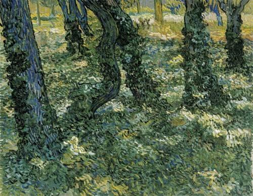 landschaften-gemaelde - Sous-bois, 1889 - Van Gogh, Vincent