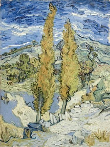landschaften-gemaelde - Les peupliers à Saint-Rémy, 1889 - Van Gogh, Vincent